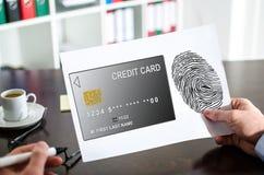 付款在纸的安全概念 图库摄影