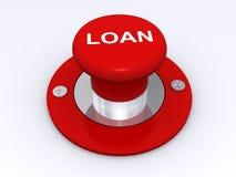 贷款按钮 免版税库存图片