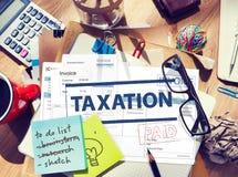付款接受了征税税时间概念 免版税图库摄影