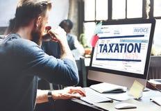 付款接受了征税税时间概念 库存照片
