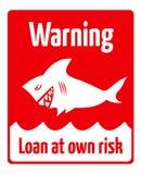 贷款风险 免版税库存照片