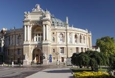 歌剧剧院在傲德萨,乌克兰 免版税库存照片