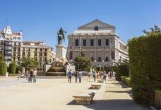 歌剧剧院在马德里 库存照片