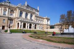 歌剧和芭蕾舞团在傲德萨,乌克兰 库存照片