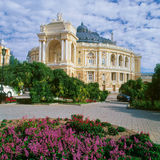 歌剧剧院在傲德萨,乌克兰 库存照片