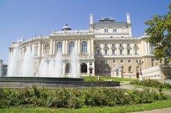歌剧和芭蕾舞团在傲德萨 乌克兰 库存图片