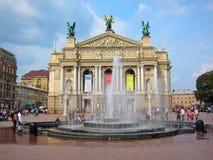 歌剧和芭蕾,乌克兰利沃夫州剧院  库存图片