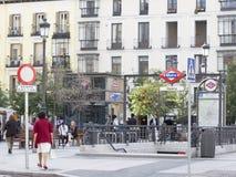 歌剧地铁车站在马德里 库存照片