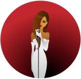 歌剧女主角白色 免版税库存照片