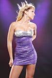 歌剧女主角紫色 库存图片