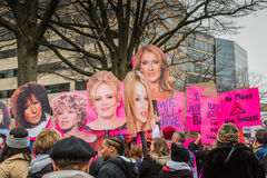 歌剧女主角-妇女3月-华盛顿特区 免版税图库摄影
