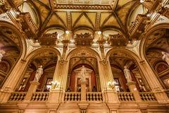 歌剧状态房子,维也纳内部  库存图片