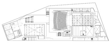 歌剧的楼面布置图 免版税库存照片