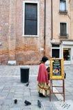 歌剧票销售威尼斯,意大利 图库摄影