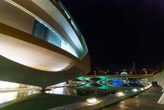 以歌剧院为特色的巴伦西亚都市风景,在艺术集中 库存图片