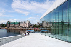 歌剧院在奥斯陆挪威 库存图片