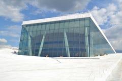 歌剧院在奥斯陆 免版税库存照片