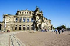 歌剧院在德累斯顿命名了Semperoper 库存照片