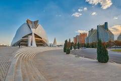 歌剧院在艺术&科学城市复杂在巴伦西亚 免版税图库摄影