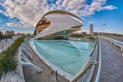 歌剧院在艺术&科学城市复杂在巴伦西亚 库存照片