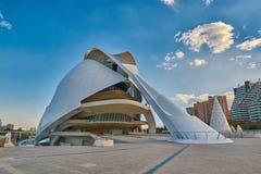 歌剧院在艺术&科学城市复杂在巴伦西亚 图库摄影
