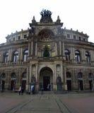 歌剧院德累斯顿,德国 图库摄影