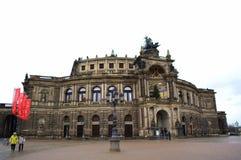 歌剧院德累斯顿,德国 库存图片