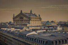 歌剧Ganier的屋顶在巴黎 图库摄影