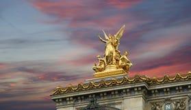 歌剧Garnier在巴黎(自白天),法国 免版税库存图片
