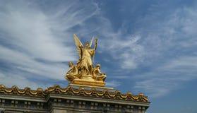 歌剧Garnier在巴黎(自白天),  图库摄影
