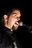 歌唱家年轻人 免版税库存照片
