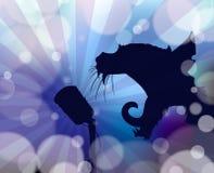 歌唱家猫摘要背景 库存图片