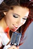 歌唱家阶段 免版税库存照片