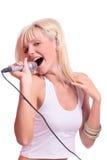歌唱家 库存图片