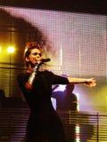 歌唱家 免版税库存图片