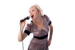 歌唱家 免版税图库摄影