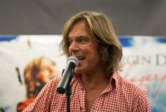 歌唱家Juergen Drews 库存图片