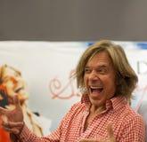 歌唱家Juergen Drews 库存照片