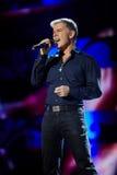 歌唱家Oleg Gazmanov在阶段执行 库存图片