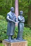 歌德和他的谬斯乌尔丽克-温泉公园在Marianske Lazne Marienbad -捷克 库存图片