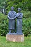 歌德和他的谬斯乌尔丽克-温泉公园在Marianske Lazne Marienbad -捷克 免版税库存图片