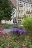 歌德摆正-小西部漂泊温泉镇Marianske Lazne Marienbad -捷克的中心 免版税库存照片