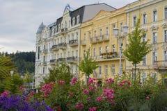 歌德摆正-小西部漂泊温泉镇Marianske Lazne Marienbad -捷克的中心 库存照片
