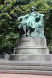 歌德-维也纳-奥地利的雕象 免版税库存图片