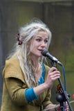 歌手和音乐家边缘节日的,爱丁堡,苏格兰 免版税库存照片