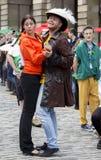 歌手和音乐家边缘节日的,爱丁堡,苏格兰 图库摄影