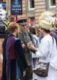 歌手和音乐家边缘节日的,爱丁堡,苏格兰 免版税库存图片