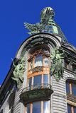 歌手大厦的豪华门面在圣彼德堡 免版税库存照片