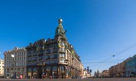 歌手大厦(圣彼德堡) 库存图片