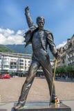 歌手弗雷迪・默丘里,蒙特勒,瑞士的纪念碑 图库摄影
